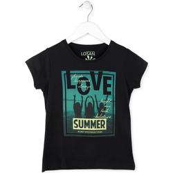 Υφασμάτινα Κορίτσι T-shirt με κοντά μανίκια Losan 714 1204AB Μαύρος