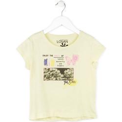 Υφασμάτινα Κορίτσι T-shirt με κοντά μανίκια Losan 714 1208AB Κίτρινος