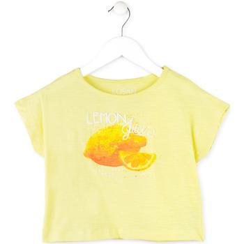 Υφασμάτινα Κορίτσι T-shirt με κοντά μανίκια Losan 714 1211AB Κίτρινος
