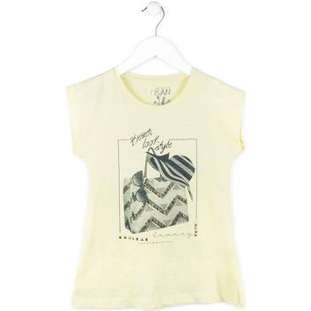 Υφασμάτινα Κορίτσι T-shirt με κοντά μανίκια Losan 714 1212AB Κίτρινος
