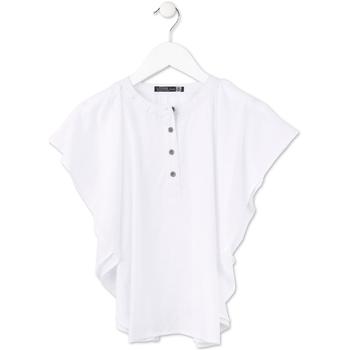 Υφασμάτινα Κορίτσι Μπλούζες Losan 714 3002AB λευκό