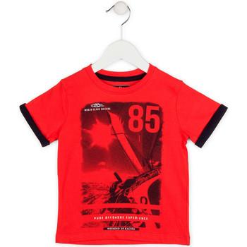 Υφασμάτινα Αγόρι T-shirt με κοντά μανίκια Losan 715 1001AC το κόκκινο