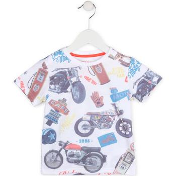 Υφασμάτινα Αγόρι T-shirt με κοντά μανίκια Losan 715 1017AC λευκό