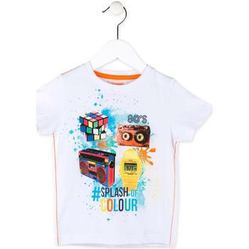 Υφασμάτινα Αγόρι T-shirt με κοντά μανίκια Losan 715 1023AC λευκό