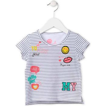 Υφασμάτινα Κορίτσι T-shirt με κοντά μανίκια Losan 716 1033AD λευκό