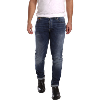 Υφασμάτινα Άνδρας Skinny Τζιν  3D P3D1 2659 Μπλε