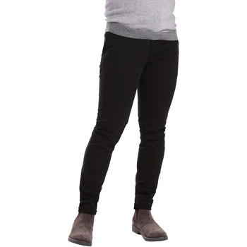 Υφασμάτινα Άνδρας Παντελόνια Chino/Carrot Sei3sei PZV21 7275 Μαύρος