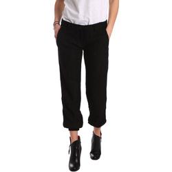 Υφασμάτινα Γυναίκα Παντελόνια Chino/Carrot Denny Rose 721DD20026 Μαύρος