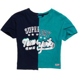 Υφασμάτινα Γυναίκα T-shirt με κοντά μανίκια Superdry G60001KQ Μπλε