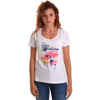 Υφασμάτινα Γυναίκα T-shirt με κοντά μανίκια Key Up 5D58S 0001 λευκό