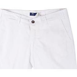 Υφασμάτινα Άνδρας Σόρτς / Βερμούδες Sei3sei PZV132 81497 λευκό