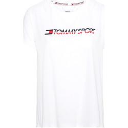 Υφασμάτινα Γυναίκα T-shirt με κοντά μανίκια Tommy Hilfiger S10S100061 λευκό