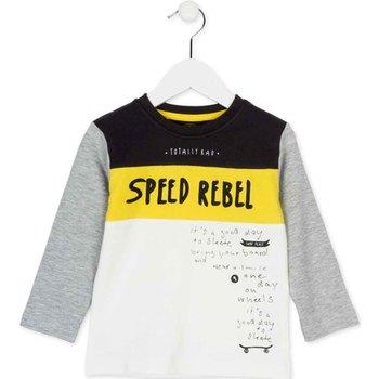 Υφασμάτινα Παιδί Μπλουζάκια με μακριά μανίκια Losan 725 1018AC λευκό