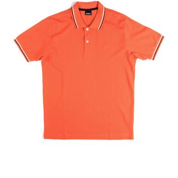 Υφασμάτινα Άνδρας Πόλο με κοντά μανίκια  Key Up 2Q70G 0001 Πορτοκάλι
