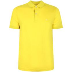 Υφασμάτινα Άνδρας Πόλο με κοντά μανίκια  Calvin Klein Jeans K10K105182 Κίτρινος