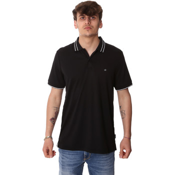 Υφασμάτινα Άνδρας Πόλο με κοντά μανίκια  Calvin Klein Jeans K10K105183 Μαύρος