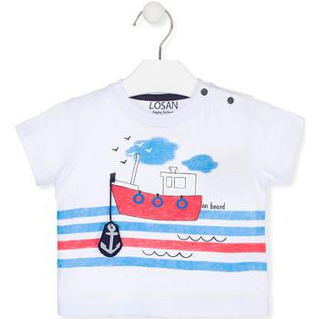 Υφασμάτινα Παιδί T-shirt με κοντά μανίκια Losan 017-1004AL λευκό
