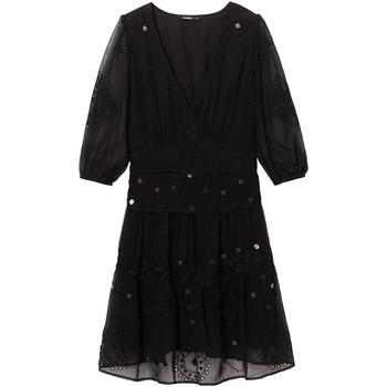 Υφασμάτινα Γυναίκα Κοντά Φορέματα Desigual 19WWVW32 Μαύρος