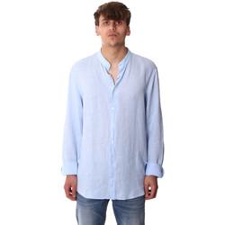 Υφασμάτινα Άνδρας Πουκάμισα με μακριά μανίκια Calvin Klein Jeans K10K105389 Μπλε
