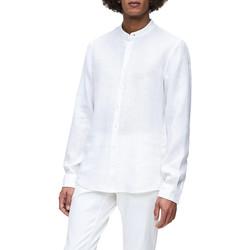 Υφασμάτινα Άνδρας Πουκάμισα με μακριά μανίκια Calvin Klein Jeans K10K105389 λευκό