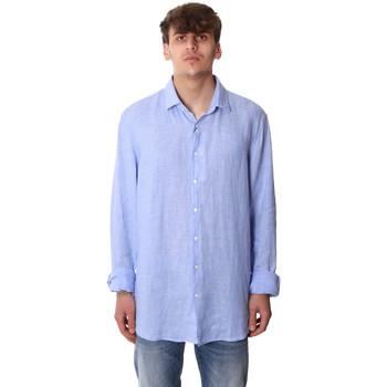 Υφασμάτινα Άνδρας Πουκάμισα με μακριά μανίκια Calvin Klein Jeans K10K106018 Μπλε