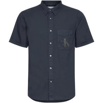Υφασμάτινα Άνδρας Πουκάμισα με κοντά μανίκια Calvin Klein Jeans J30J315223 Μαύρος
