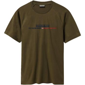 Υφασμάτινα Άνδρας T-shirt με κοντά μανίκια Napapijri NP0A4E37 Πράσινος
