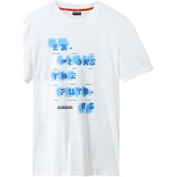 Υφασμάτινα Άνδρας T-shirt με κοντά μανίκια Napapijri NP0A4E8G λευκό