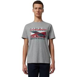 Υφασμάτινα Άνδρας T-shirt με κοντά μανίκια Napapijri NP0A4E36 Γκρί