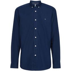 Υφασμάτινα Άνδρας Πουκάμισα με μακριά μανίκια Calvin Klein Jeans K10K105284 Μπλε