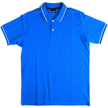 Υφασμάτινα Άνδρας Πόλο με κοντά μανίκια  Key Up 2Q70G 0001 Μπλε