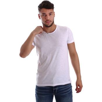 Υφασμάτινα Άνδρας T-shirt με κοντά μανίκια Key Up 233SG 0001 λευκό