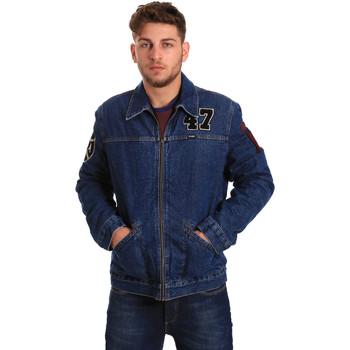 Υφασμάτινα Άνδρας Τζιν Μπουφάν/Jacket  Wrangler W4580512L Μπλε