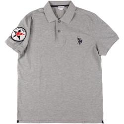 Υφασμάτινα Άνδρας Πόλο με κοντά μανίκια  U.S Polo Assn. 43767 41029 Γκρί