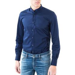 Υφασμάτινα Άνδρας Πουκάμισα με μακριά μανίκια Antony Morato MMSL00376 FA450001 Μπλε