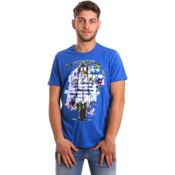 Υφασμάτινα Άνδρας T-shirt με κοντά μανίκια Gaudi 811BU64154 Μπλε