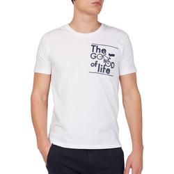 Υφασμάτινα Άνδρας T-shirt με κοντά μανίκια Gas 542990 λευκό