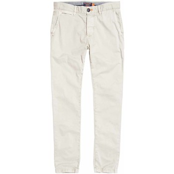 Υφασμάτινα Άνδρας Παντελόνια Chino/Carrot Superdry M70001TQF2 λευκό