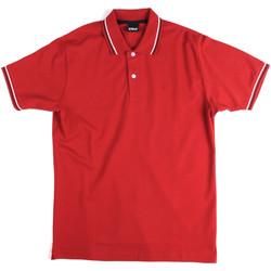 Υφασμάτινα Άνδρας Πόλο με κοντά μανίκια  Key Up 2Q70G 0001 το κόκκινο