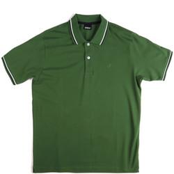 Υφασμάτινα Άνδρας Πόλο με κοντά μανίκια  Key Up 2Q70G 0001 Πράσινος
