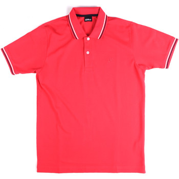 Υφασμάτινα Άνδρας Πόλο με κοντά μανίκια  Key Up 2Q70G 0001 Ροζ