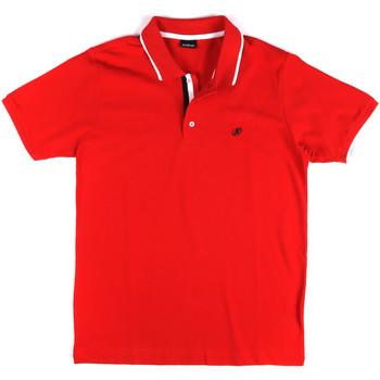 Υφασμάτινα Άνδρας Πόλο με κοντά μανίκια  Key Up 2Q711 0001 το κόκκινο