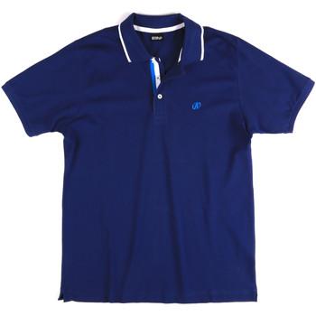 Υφασμάτινα Άνδρας Πόλο με κοντά μανίκια  Key Up 2Q711 0001 Μπλε