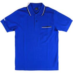 Υφασμάτινα Άνδρας Πόλο με κοντά μανίκια  Key Up 2Q827 0001 Μπλε