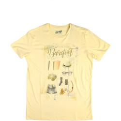 Υφασμάτινα Άνδρας T-shirt με κοντά μανίκια Key Up 2G84S 0001 Κίτρινος