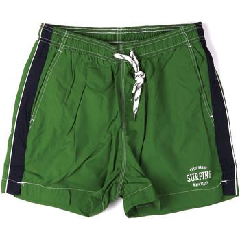 Υφασμάτινα Άνδρας Μαγιώ / shorts για την παραλία Key Up 2H17X 0001 Πράσινος
