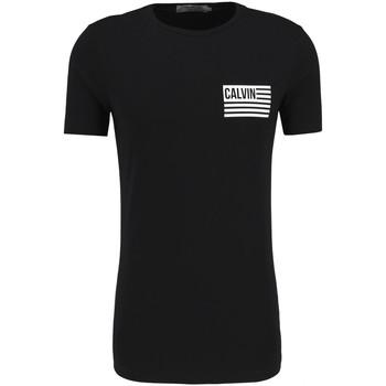 Υφασμάτινα Άνδρας T-shirt με κοντά μανίκια Calvin Klein Jeans J30J306891 Μαύρος
