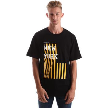 Υφασμάτινα Άνδρας T-shirt με κοντά μανίκια Calvin Klein Jeans J30J306895 Μαύρος