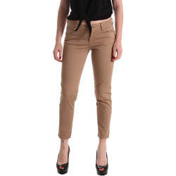 Υφασμάτινα Γυναίκα Παντελόνια Πεντάτσεπα Gaudi 911BD25011 καφέ