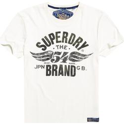 Υφασμάτινα Άνδρας T-shirt με κοντά μανίκια Superdry M10003TR λευκό